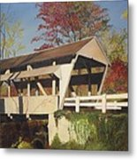 Pennsylvania Covered Bridge Metal Print