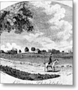 Pennsylvania Farm, 1795 Metal Print