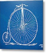 Penny-farthing 1867 High Wheeler Bicycle Blueprint Metal Print
