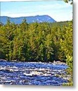 Penobscot River And Mt Katahdin Metal Print