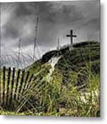Pensacola Beach Cross Metal Print