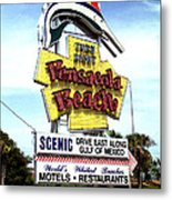 Pensacola Beach Sign Metal Print