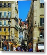 Pensao Geres - Lisbon 2 Metal Print by Mary Machare