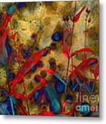 Penstemon Abstract 2 Metal Print