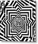Penta Spheres Maze  Metal Print