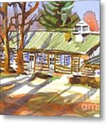 Penuel Lodge In Winter Sunlight Metal Print
