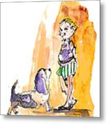 People And Their Dogs 01 Metal Print