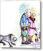 People And Their Dogs 02 Metal Print