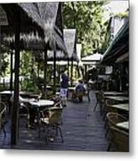 People At The Breakfast Table In A Hotel In Sentosa In Singapore Metal Print