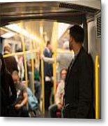 People Commuting Vienna Metro Metal Print