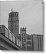 People Mover Downtown Detroit Metal Print