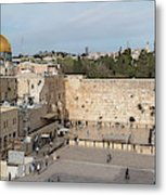 People Praying At At Western Wall Metal Print