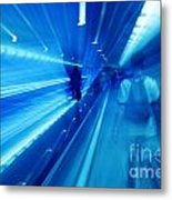 People Rush In Subway. Metal Print