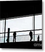 People Silhouettes In Airport Metal Print