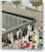 People Visit The 9/11 Memorial Metal Print