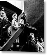 People Watching A Fire - Nyc - 1980 Metal Print