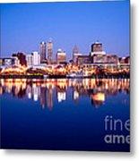 Peoria Illinois Skyline At Night Metal Print by Paul Velgos