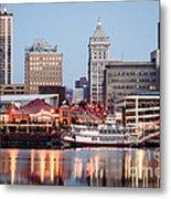 Peoria Illinois Skyline Metal Print