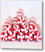 Peppermint Twist - Candy Canes Metal Print