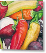 Peppers And Onions Metal Print