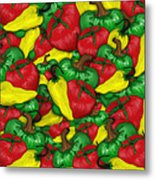 Peppers And Tomatos Metal Print