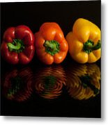 Peppers Metal Print