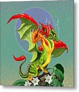 Peppers Dragon Metal Print
