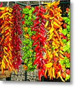 Peppers For Sale Metal Print
