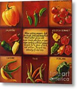 Pepper Facts  Metal Print