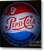 Pepsi Cap Sign Metal Print