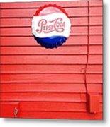 Pepsi-cola Metal Print by Joan Meyland