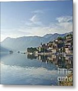 Perast Village In The Bay Of Kotor In Montenegro  Metal Print