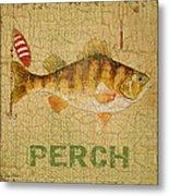 Perch On Burlap Metal Print