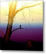 Perched On A Branch Metal Print