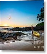Perfect Ending - Beautiful And Secluded Secret Beach In Maui Metal Print