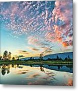 Perfect Sunset Clouds Metal Print