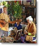 Performers - Night Street Market - Chiang Mai Thailand - 01134 Metal Print