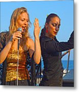 Performing By The Sea Metal Print