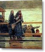 Perils Of The Sea 1881 Metal Print