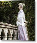 Period Lady On Bridge Metal Print