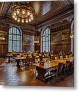 Periodical Room At The New York Public Library Metal Print