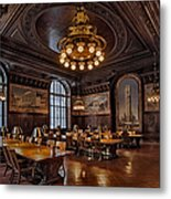 Periodicals Room New York Public Library Metal Print