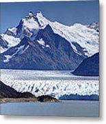 Perito Moreno Glacier - Snow Top Mountains Metal Print