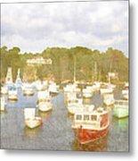 Perkins Cove Lobster Boats Maine Metal Print