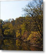 Perkiomen Creek In Autumn Metal Print