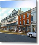 Perry House At Washington Square In Newport Rhode Island Metal Print