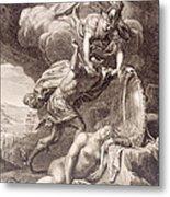 Perseus Cuts Off Medusa's Head Metal Print by Bernard Picart