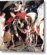 Perseus Liberating Andromeda Metal Print