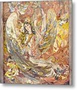 Persian Lady Playing Chang Metal Print