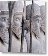 Persian warriors in line Metal Print